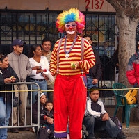 In a bizarre twist Steve Jobs' stolen iPad was briefly into the hands of Kenny The Clown, playing the