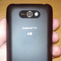 LG Motion 4G for MetroPCS poses for the camera