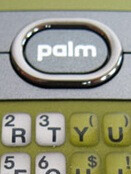 Pictures of Sprint's olive green Palm Centro surface