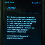 Jelly Bean test update leaks for the Verizon Galaxy Nexus