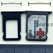iPhone 5 Nano SIM card photographed in Europe