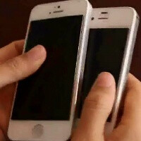 Video leaks out of an Apple iPhone 5 booting up to iOS 6