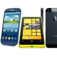 Apple iPhone 5 vs Samsung Galaxy S III vs Nokia Lumia 920 specs comparison