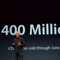 Apple sold over 400 million iOS devices, now more than 700,000 apps in App Store