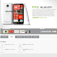 Alleged HTC website snapshot leaks an HTC Elation WP8 handset with