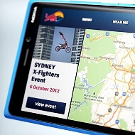 Cyan Nokia Lumia 920 appears for a split second in an exclusive Red Bull app promo
