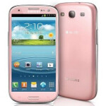 Pretty in pink is the Samsung Galaxy S III
