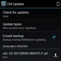CyanogenMod 10 gets OTA nightly builds installed automatically with new CM Updater option