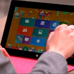 Another video of the Microsoft Surface appears, showing features that set it apart from the iPad