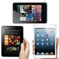 Apple iPad mini vs Google Nexus 7 vs Amazon Kindle Fire HD specs comparison