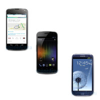 LG Nexus 4 vs Samsung Galaxy Nexus vs Samsung Galaxy S III specs comparison