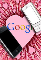 Android and the iPhone with an optimized Google search