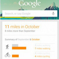 Google Now quietly gets pedometer card: tracks how much you've walked, cycled