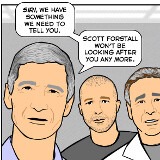 Here's how Tim Cook told Siri about Scott Forstall's leave (hint: it goes wrong)