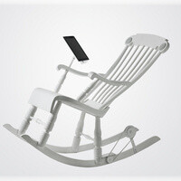 This $1300 rocking chair can charge your iPad