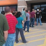 People are lining up outside AT&T stores for new Windows Phones