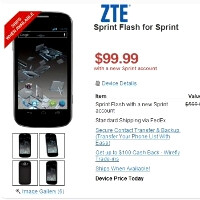 ZTE Flash for Sprint appears at Wirefly and Best Buy, high-end specs confirmed