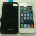 BlackBerry 10 L-series phone size compared to iPhone 5