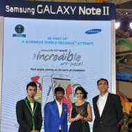 Samsung India will try to break a Guiness World Record for the most collaborative art piece to promote the Note II