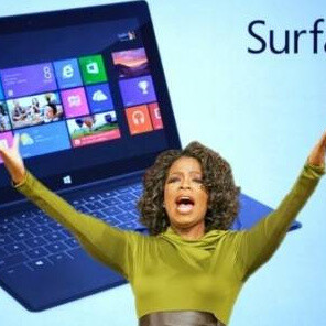 Oprah endorses Microsoft's Surface with a tweet sent from... an iPad
