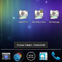 QuickShot HD lets you take one-tap photos on your Android handset without the camera app