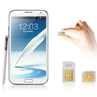 Samsung makes a Galaxy Note II with both micro and regular SIM card slots official in China