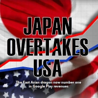 An iOS vs Android app revenue study shows how East Asia encroaches on the US turf