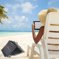 Gomadic now shipping the SunVolt mobile solar chargers, juice your phone as fast as a wall outlet