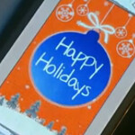 Samsung wishes us Happy Holidays using paper and the Samsung GALAXY Note II
