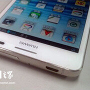 Huawei Ascend D2 in white poses for the camera