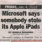 Thieves steal five Apple iPads from Microsoft, leave everything else alone