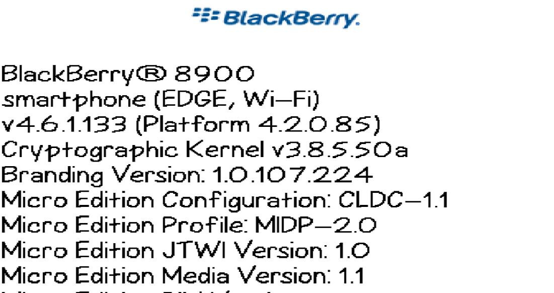 BlackBerry Curve 8900 already gets leaked OS upgrade