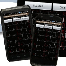 Portable CardioCard Mobile EKG machine comes with an Android app