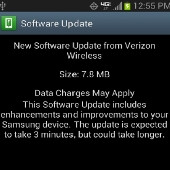 Verizon's software update being pushed out for the Samsung Galaxy Note II