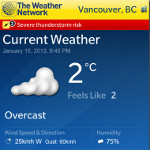 The Weather Network shows off its BlackBerry 10 app