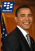 Obama sticks to his BlackBerry