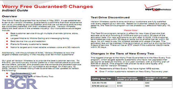 Major changes at Verizon Wireless?