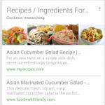 New Google Now card will show recipe recommendations