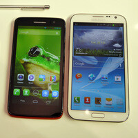 Alcatel One Touch Scribe HD vs Samsung Galaxy Note II - first look
