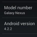 Android 4.2.2 for Verizon's Samsung GALAXY Nexus leaks