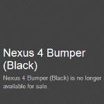 Google Nexus 4 rubber bumper is bumped