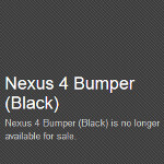 Google Nexus 4 rubber bumper is bumped