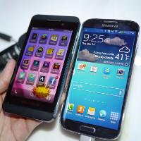Samsung Galaxy S 4 vs BlackBerry Z10: first look - PhoneArena