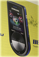 Billboards show the Samsung BEAT DISC music phone