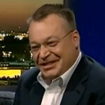 Stephen Elop throws a TV show host's iPhone away, promises to replace it with a Nokia phone