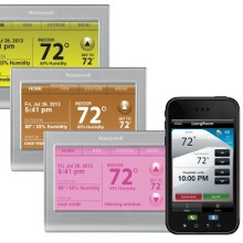 Honeywell lets you light up your phone-controlled thermostat in pink, all for $249