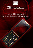 Gresso with a luxurious phone for the ladies