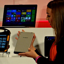 "Lenovo Miix 8 smiles for the camera: an 8"" Windows 8 tablet in a slim package"