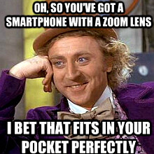 Nokia posts funny Condescending Wonka meme to take a jab at Samsung's S4 Zoom again