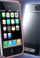 Apple is leading the touchscreen market with Samsung following close behind?
